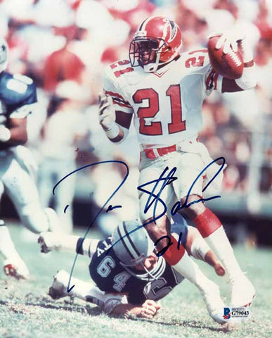 Deion Sanders Signed Autographed 8X10 Photo Atlanta Falcons Rare BAS