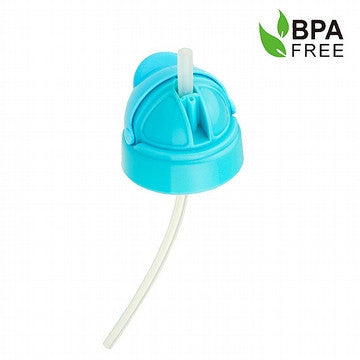 Blue Standard Neck Baby Bottles Straw Cap
