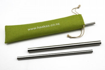 Stainless Steel Straw - Straight with Ridges