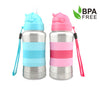 Blue and Pink Standard Neck Baby Bottles Straw Cap