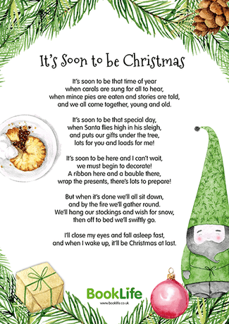 'It's Soon to be Christmas' Poem Poster by BookLife