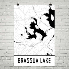 Brassua Lake ME Art and Maps