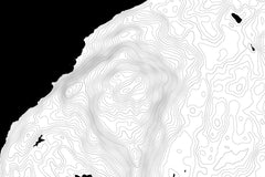 Orcas Island Topographic Map Art