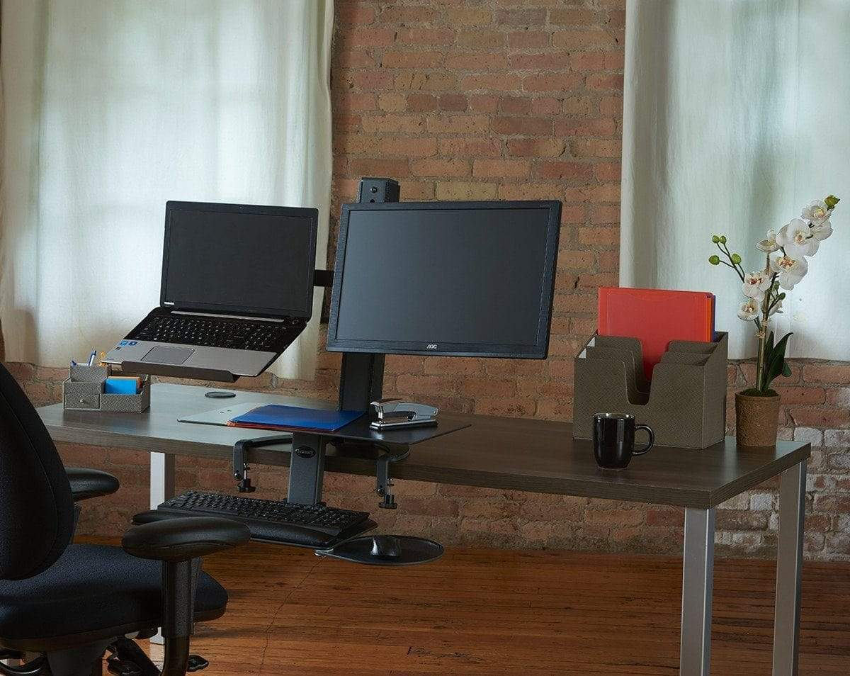HealthPostures Assisted Lift Standing Desks HealthPostures 6361 TaskMate Go Laptop and Monitor Mount