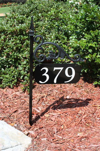 Annandale Address Sign Wrought Iron Look - Address America