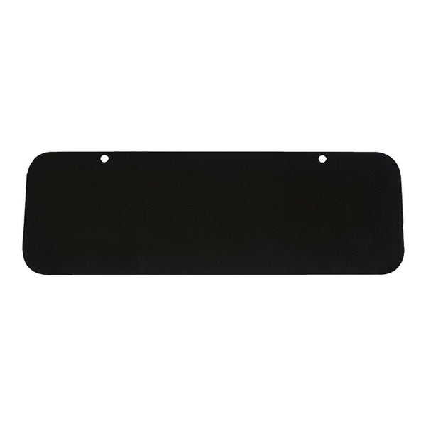 "12"" x 4"" Powder-Coated Black Aluminum Blank - Address America"