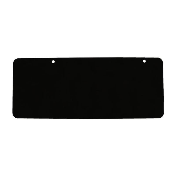 "20"" x 8"" Powder-Coated Black Aluminum Blank - Address America"