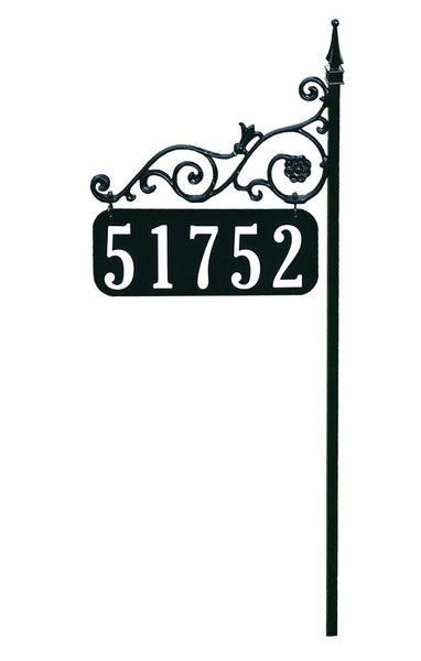 "47"" Orleans Solid Metal Reflective Double Sided Address Sign"
