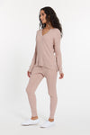Dusty Rose White Cabo Cashmere Set, var-23476629930042,var-23476629962810,var-23476629995578,var-23476630028346,var-23476630061114