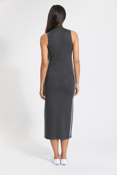 Charcoal Cashmere Barcelona Mock Dress, var-22419153453114,var-22419576127546,var-22419576160314,var-22419576193082,var-22419576225850