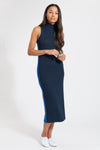 Navy Cashmere Barcelona Mock Dress, var-22419685834810,var-22419685867578,var-22419685933114,var-22419685965882,var-22419685998650