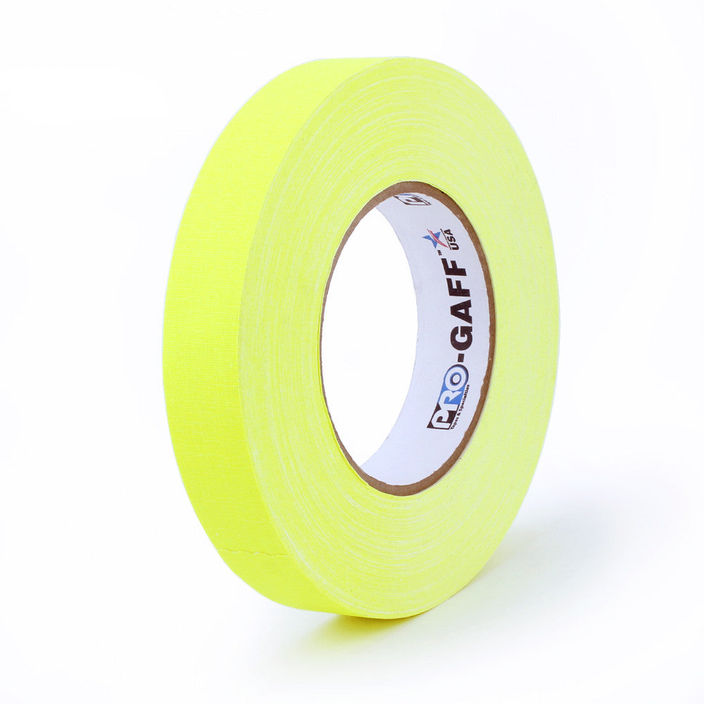 "Pro Gaff Tape - 1"" X 50yd, Neon Yellow"