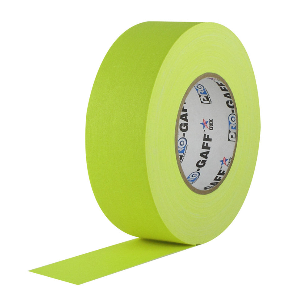 "Pro Gaff Tape - 2"" X 50yd, Neon Yellow"