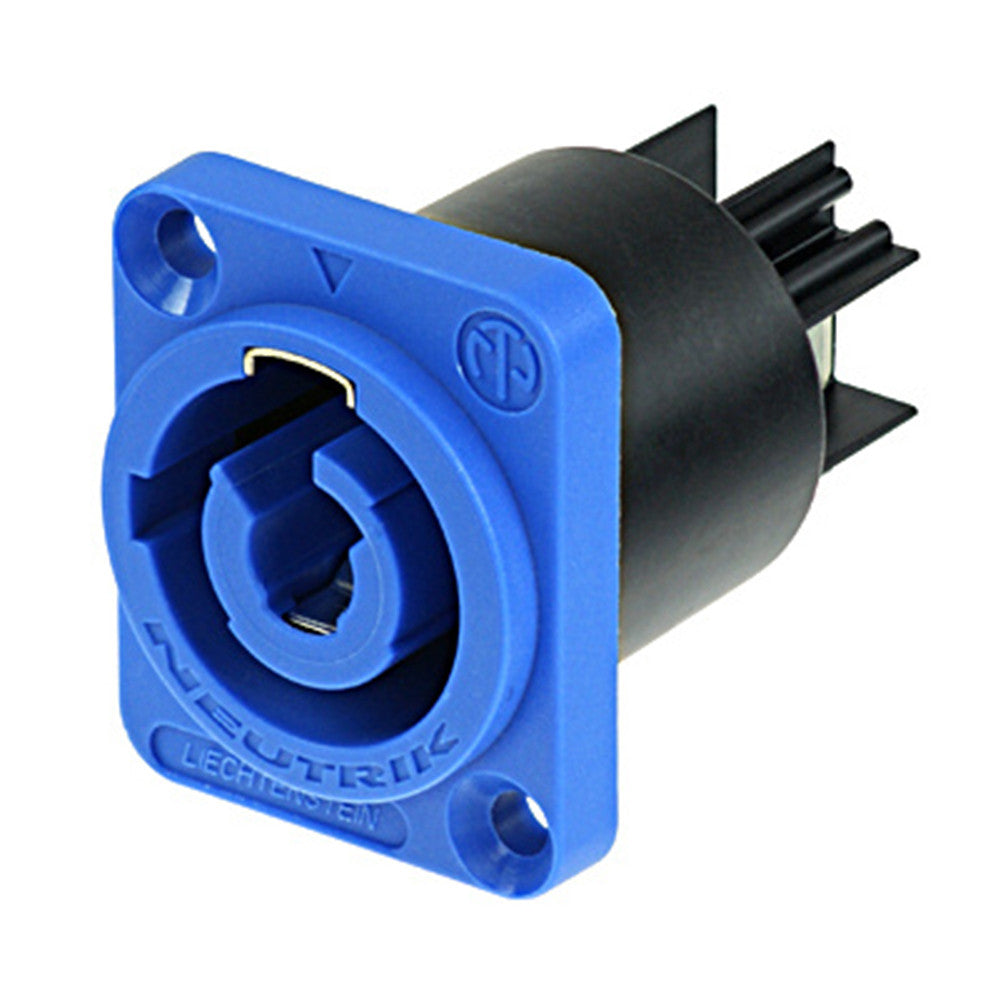 Neutrik powerCON Chassis Connector - In, Blue - NAC3MPA