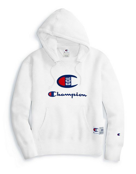 Champion Century Collection Men's C100 Chenille Logo Hoodie