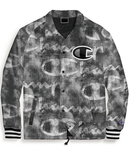 Champion Life® Men's Printed Big C Logo Satin Coaches Jacket