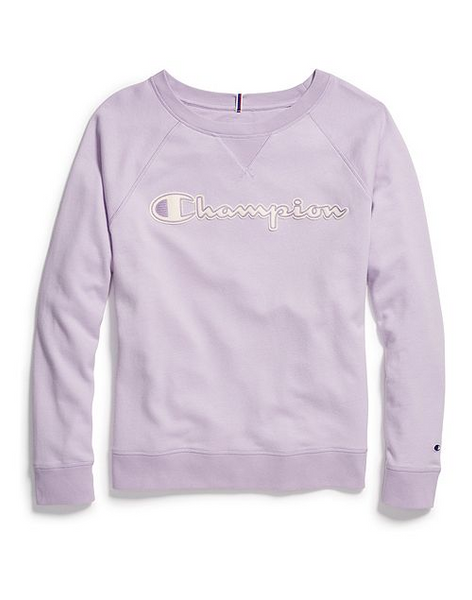 Women's Heritage Chainstitch Logo French Terry Crew