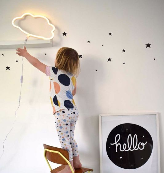 A Little Lovely Company Neon Style Light: Cloud - Yellow