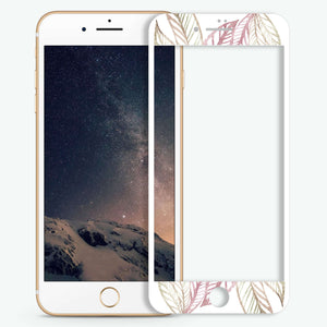 Tropical Leafs Artistic Skin Screen Protector For iPhone