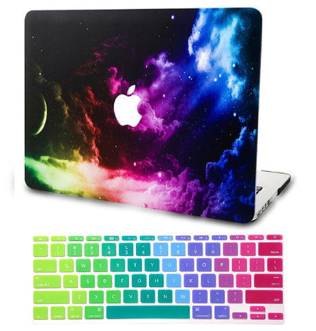 Macbook Case with US/CA Keyboard Cover' Package | Galaxy Space Collection - Color Space - Case Kool