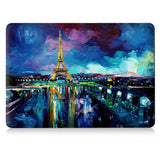 Macbook Case | Oil Painting Collection - Night View of Eiffel Tower - Case Kool