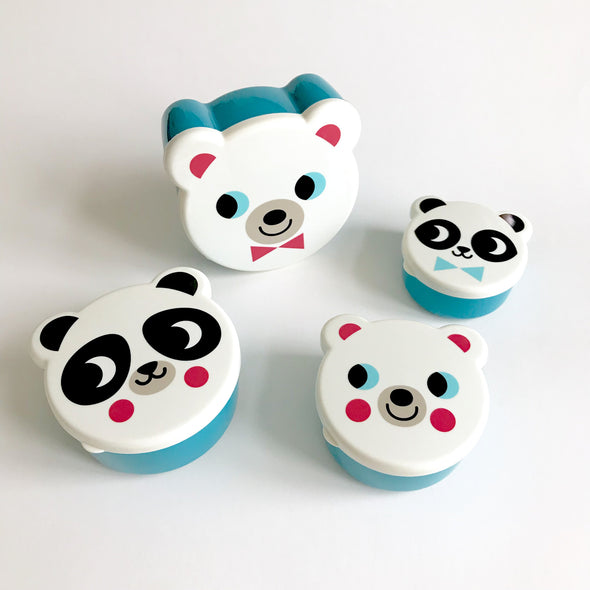 Polar Bear Snack Box set of 4