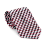 Red Checkers Necktie - Patyrns