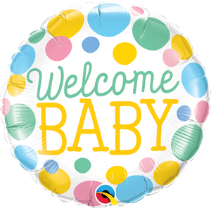 Welcome Baby Dots