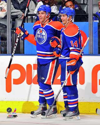 Taylor Hall and Jordan Eberle Edmonton Oilers 8x10 Photograph