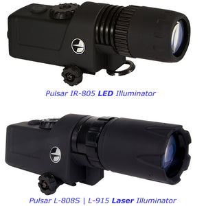 Pulsar LED | LASER Series Rail Mount Infrared Illuminators | IR-805 LED | L-808S LASER | L-915 LASER