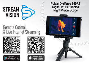 Pulsar Digiforce 860RT Digital Wi-Fi Enabled Night Vision Scope Stream Vision iOS and Android Apps