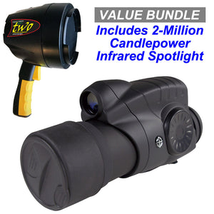 Twilight 7x50 Digital Night Vision Scope / 2-Million Candlepower Infrared Spotlight Value Bundle