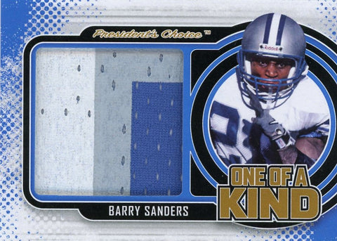 Barry Sanders One of A Kind 1/1