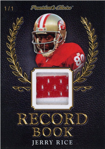 Jerry Rice Record Book 1/1
