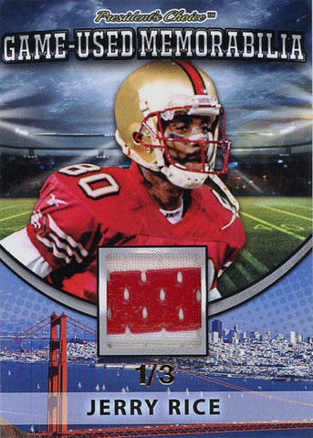 Jerry Rice Game-Used Memorabilia /3