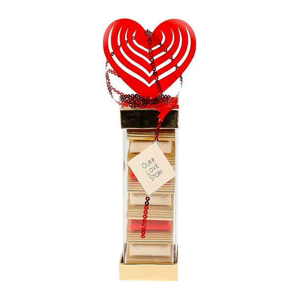 PVC Love Story Chocolate Box (Pack of 12)
