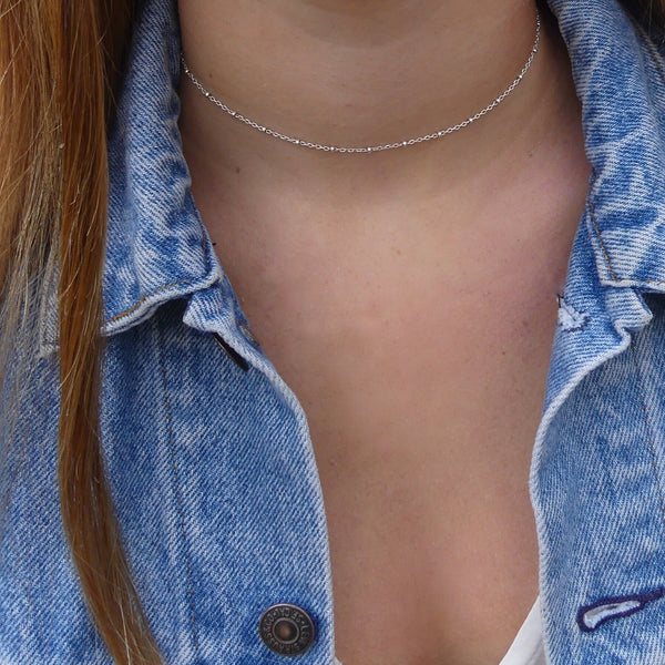 Gold or Silver Bead Choker Necklace - im keepsakes