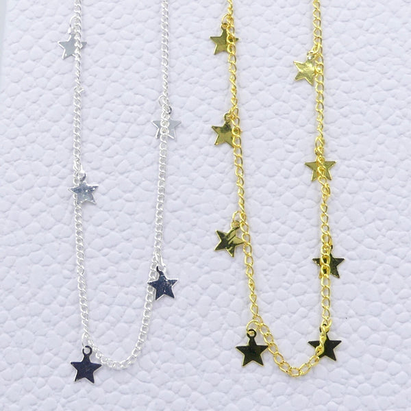 Gold or Silver Moons and Stars Dangle Chokers - im keepsakes