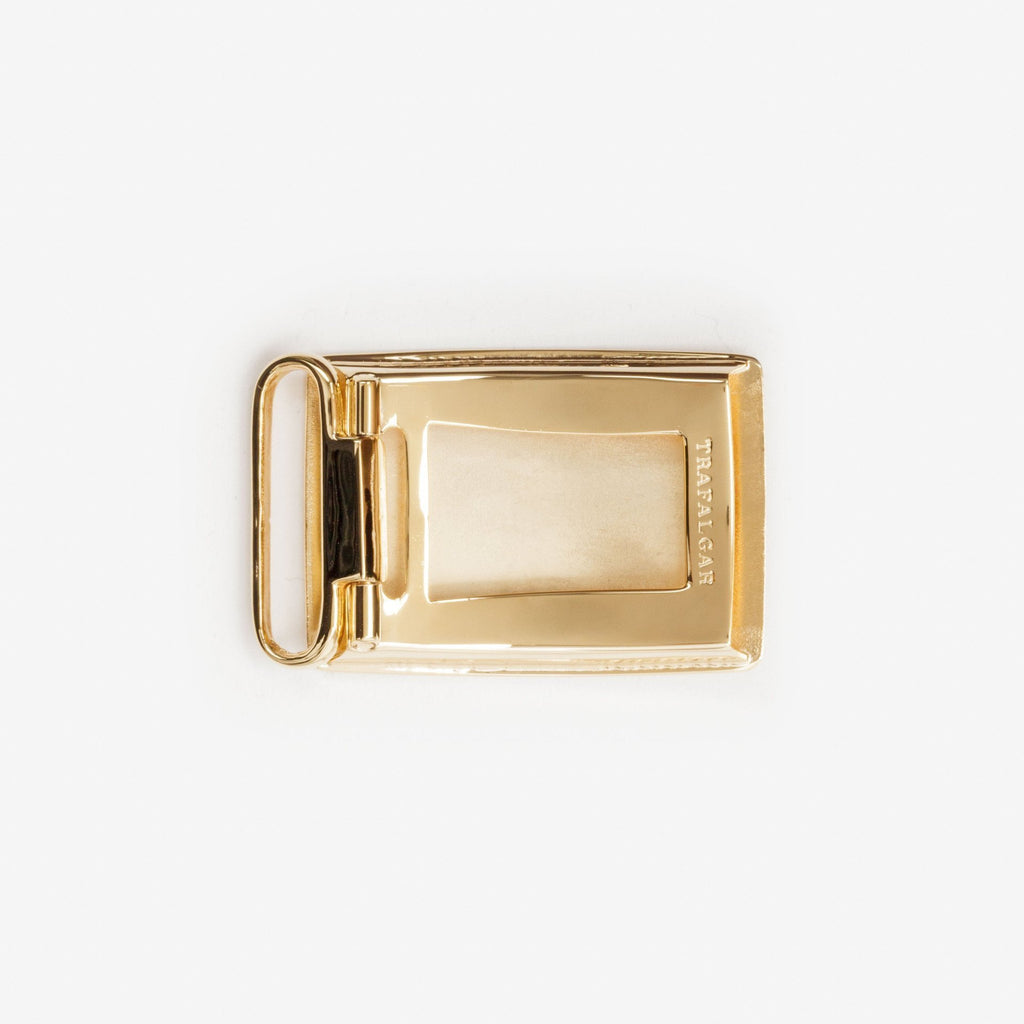 1 3/16 Inch Buckle - 24K Gold Over Brass