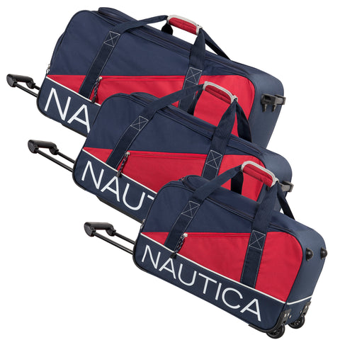 Nautica Newton Creek 3 Piece Wheeled Duffle Set