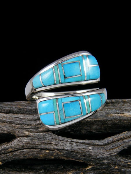 Adjustable Turquoise Inlay Ring