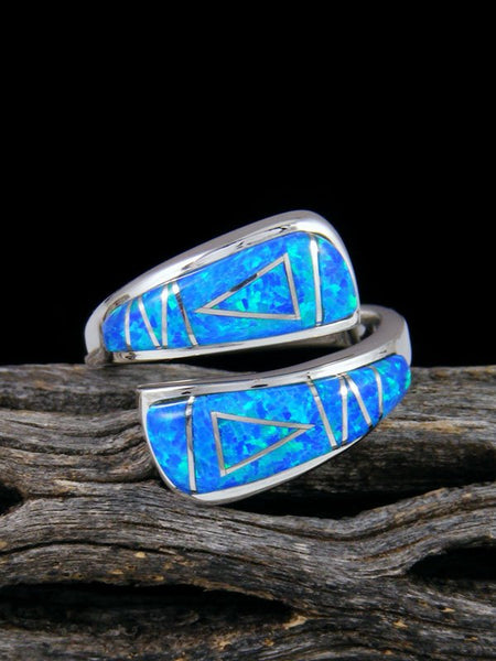 Adjustable Opalite Inlay Ring