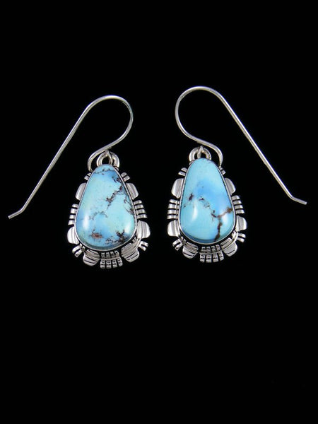 Sterling Silver Golden Hill Turquoise Dangle Earrings