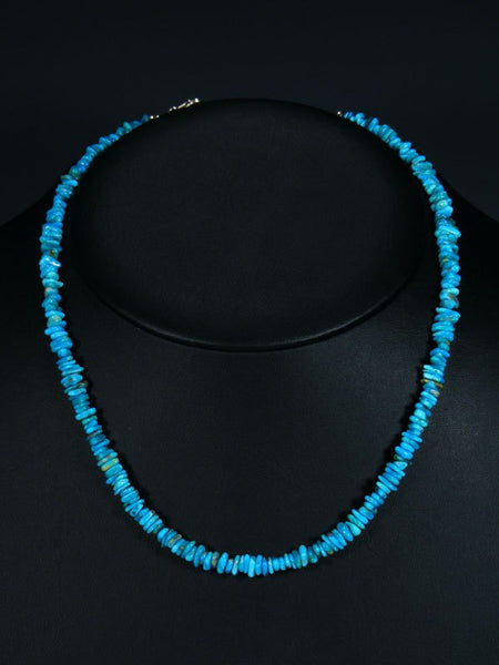 Native American Indian Jewelry Kingman Turquoise Choker Necklace