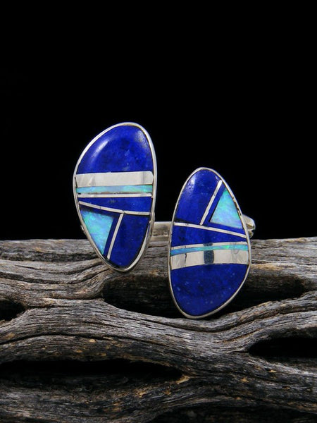Adjustable Lapis and Opal Inlay Ring