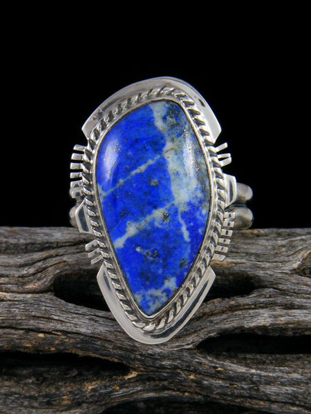 Bright Blue Lapis Ring, Size 9