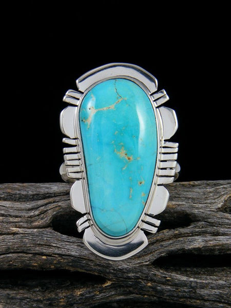 Arizona South Hill Turquoise Ring, Size 7