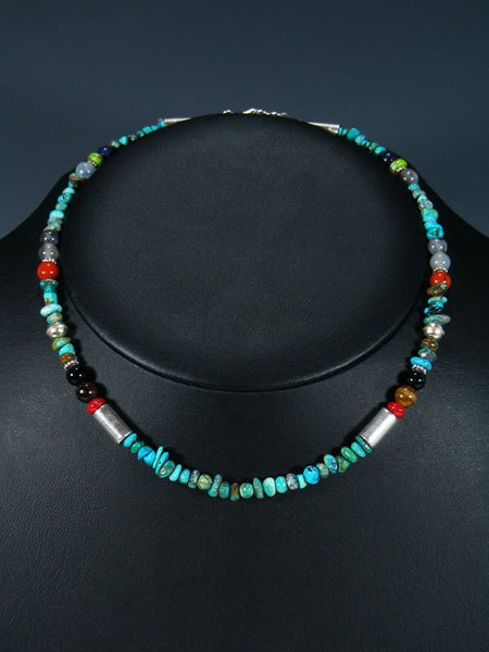 "16"" Turquoise Beaded Single Strand Necklace"