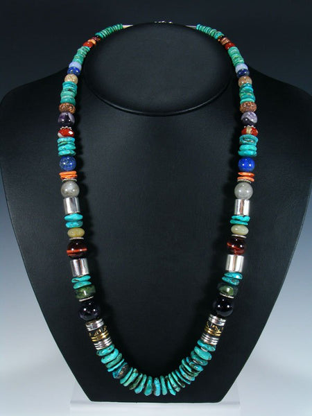 "Turquoise Large Single Strand Bead 28"" Necklace"