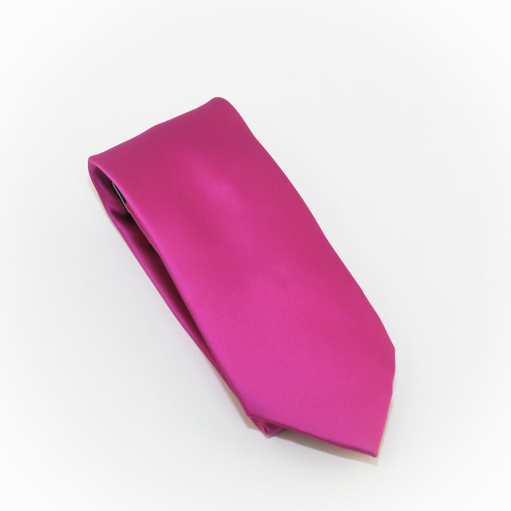 Orchid Solid Micro Grid Extra Long Silk Tie